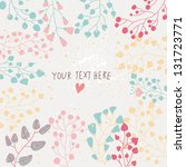 light floral background in... | Shutterstock .eps vector #131723771