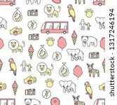 vector seamless pattern with... | Shutterstock .eps vector #1317246194