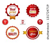 badges  labels and stickers in... | Shutterstock . vector #131724719