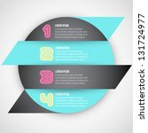 numbered banners template for... | Shutterstock .eps vector #131724977