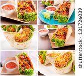 prepared mexican food ready for ... | Shutterstock . vector #131726039