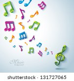 abstract music background. | Shutterstock .eps vector #131727065
