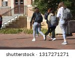 a small group of female college ... | Shutterstock . vector #1317271271
