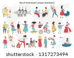 big set of cute and fun hand...   Shutterstock .eps vector #1317273494