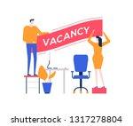 open vacancy   flat design... | Shutterstock .eps vector #1317278804