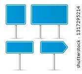 road signs. vector illustration | Shutterstock .eps vector #1317295214