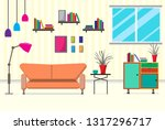 the living room with furniture. ... | Shutterstock .eps vector #1317296717