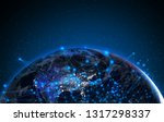 hologram ai ui technology... | Shutterstock . vector #1317298337