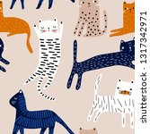 seamless pattern with cute... | Shutterstock .eps vector #1317342971