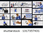 illustrations of the rule of... | Shutterstock .eps vector #1317357431