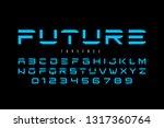 futuristic font design ... | Shutterstock .eps vector #1317360764