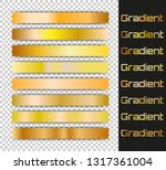 gold gradients set. vector...