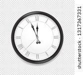 round classic wall clock... | Shutterstock .eps vector #1317367331