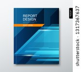 cover annual report triangle... | Shutterstock .eps vector #1317367637