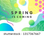unique spring card with bright... | Shutterstock .eps vector #1317367667