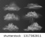 set of vector clouds and smoke... | Shutterstock .eps vector #1317382811