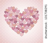 pink hearts over pink...   Shutterstock .eps vector #131738291