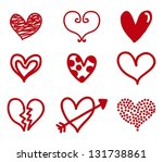 hearts isolated over white... | Shutterstock .eps vector #131738861