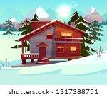 vector cartoon background with... | Shutterstock .eps vector #1317388751