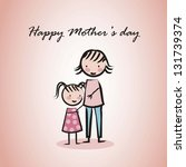 happy mothers day card with... | Shutterstock .eps vector #131739374
