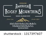 vintage gothic font. hand made... | Shutterstock .eps vector #1317397607