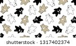 bear seamless pattern vector... | Shutterstock .eps vector #1317402374