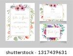 wedding invitation rsvp card... | Shutterstock .eps vector #1317439631
