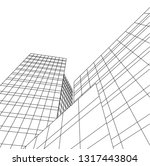 architectural drawing 3d | Shutterstock .eps vector #1317443804