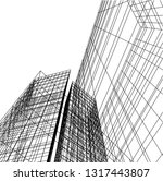 architectural drawing 3d | Shutterstock .eps vector #1317443807