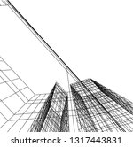 architectural drawing 3d | Shutterstock .eps vector #1317443831