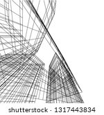 architectural drawing 3d | Shutterstock .eps vector #1317443834