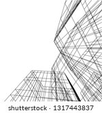 architectural drawing 3d | Shutterstock .eps vector #1317443837