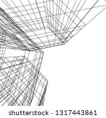 architectural drawing 3d | Shutterstock .eps vector #1317443861