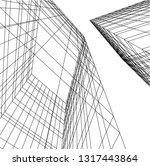 architectural drawing 3d | Shutterstock .eps vector #1317443864