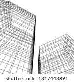 architectural drawing 3d | Shutterstock .eps vector #1317443891