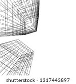 architectural drawing 3d | Shutterstock .eps vector #1317443897