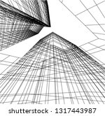 architectural drawing 3d | Shutterstock .eps vector #1317443987