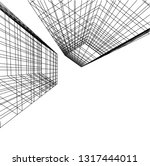 architectural drawing 3d | Shutterstock .eps vector #1317444011