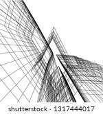 architectural drawing 3d | Shutterstock .eps vector #1317444017