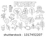 forest set of icons and objects.... | Shutterstock .eps vector #1317452207