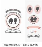 wedding invitation set | Shutterstock . vector #131746595