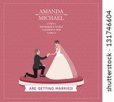 wedding invitation | Shutterstock . vector #131746604
