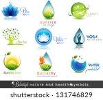 Nature And Health Care Symbols...