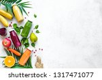 various smoothies or juices in... | Shutterstock . vector #1317471077
