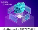 digital business complexity... | Shutterstock .eps vector #1317476471