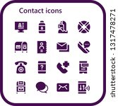 contact icon set. 16 filled... | Shutterstock .eps vector #1317478271