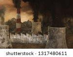 3d rendering of incineration... | Shutterstock . vector #1317480611