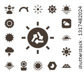 sunny icon set. 17 filled sunny ... | Shutterstock .eps vector #1317482024