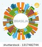 brasilia brazil city skyline... | Shutterstock .eps vector #1317482744
