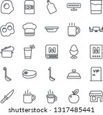 thin line icon set   hot cup... | Shutterstock .eps vector #1317485441